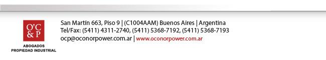 O'C&P - San Martín 663, Piso 9, Buenos Aires, Argentina - Tel/Fax: 5411 4311-2740, 5411 5368-7192, 5411 5368-7193 - ocp@oconorpower.com.ar - www.oconorpower.com.ar